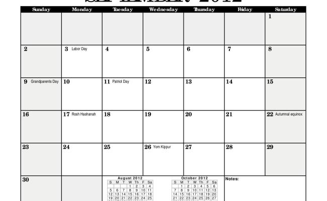 2012 Monthly Calendar Black Landscape Page 009 A Writer