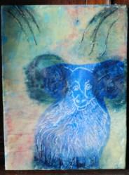 Encaustic Ram-Linda Lenart McNulty