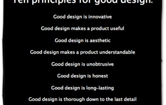 Good Design Is…