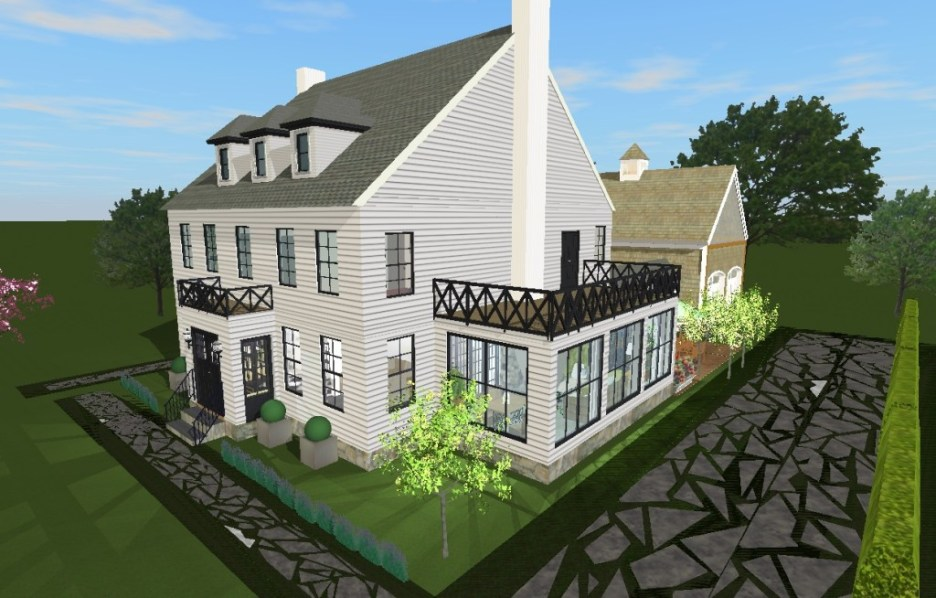 Linda's house exterior