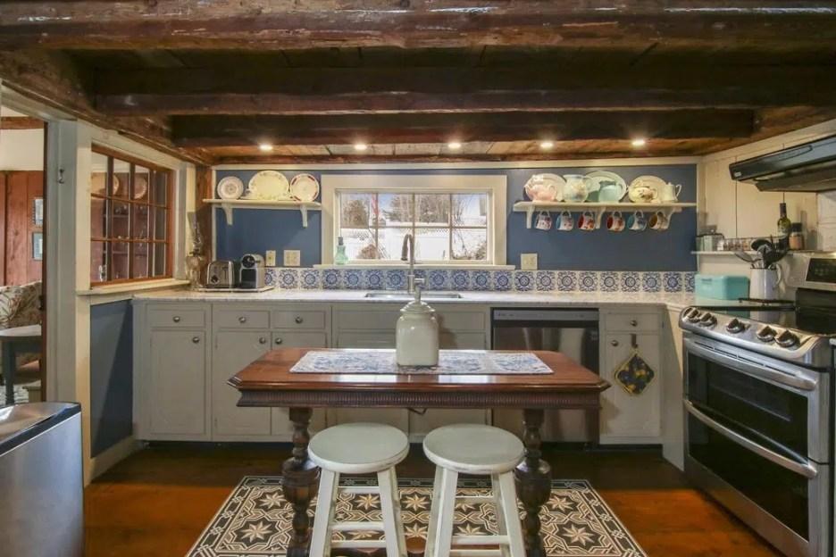 17 Grove St sandwich ma massachusetts oldest house kitchen