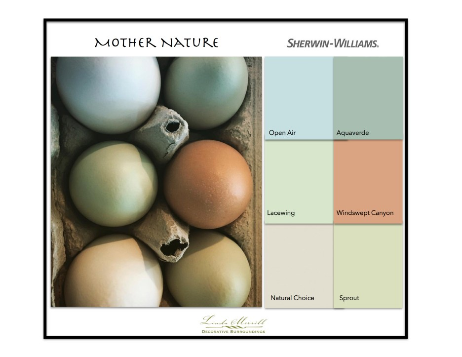 Paint Colors based on egg colors - Sherwin-Williams