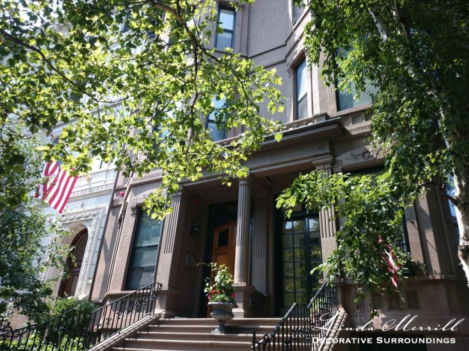 Design by Linda Merrill Decorative Surroundings: Back Bay Bachelor Penthouse exterior on Beacon Street.