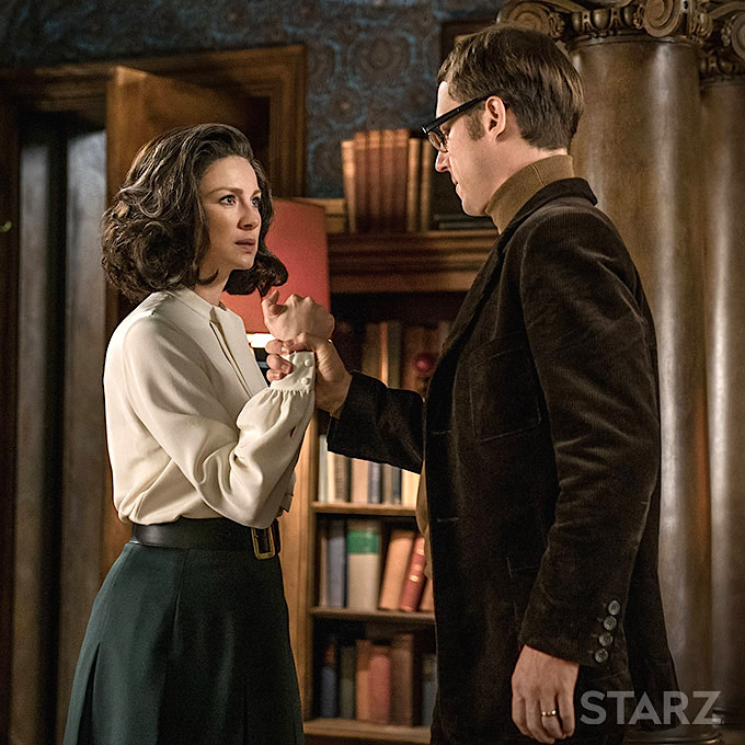 Claire and Frank in Boston apartment Outlander