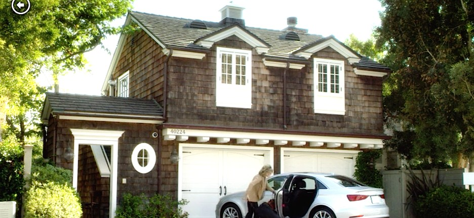 Grace and Frankie beach house exterior Steve Giannetti shingle style, white trim