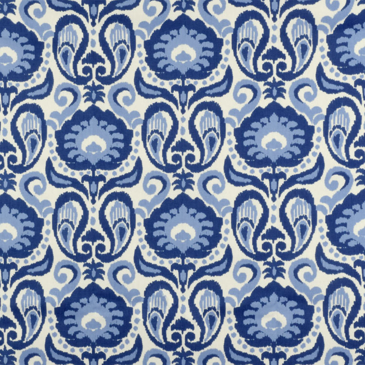 Golding by P Kaufmann Grand Ikat Blue Fabric