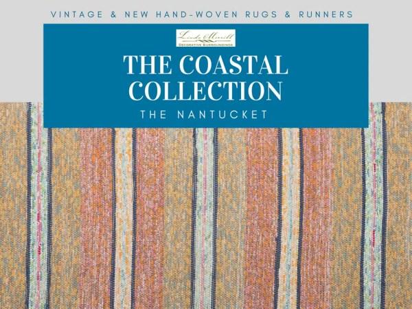 Nantucket Rug Coastal Collection pink yellow blue