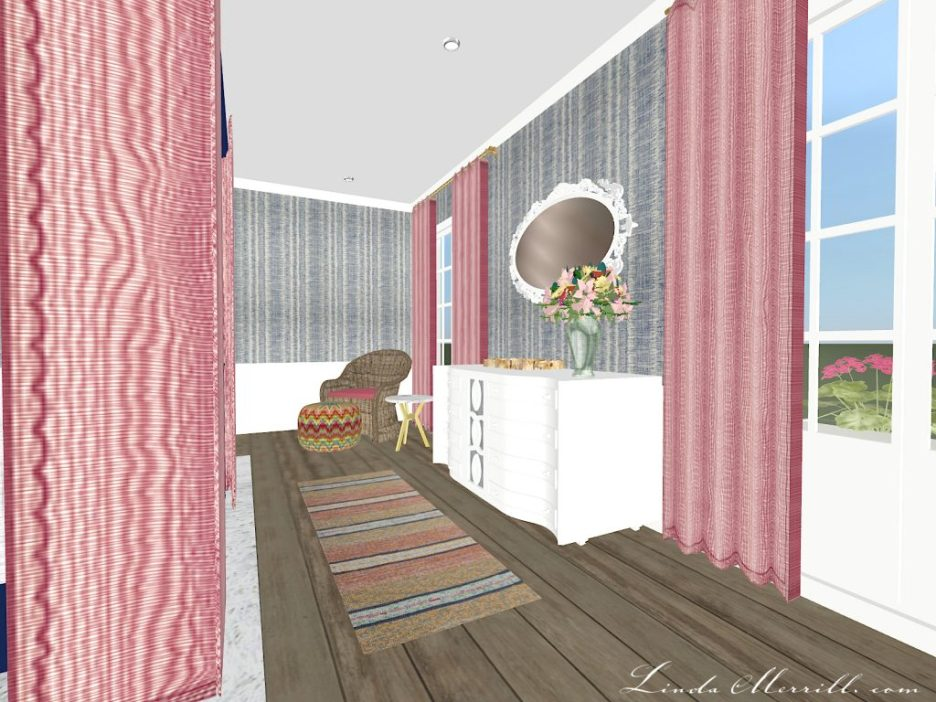 Linda Merrill The Coastal Collection Nantucket Pink Blue Bedroom 2
