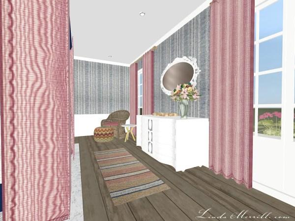 Linda Merrill Coastal Collection Nantucket Pink Blue Bedroom 2