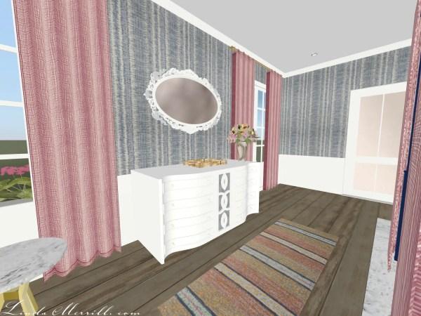 Linda Merrill Coastal Collection Nantucket pink blue bedroom 3