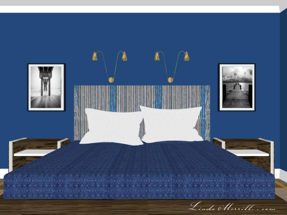Linda Merrill The Coastal Collection Newburyport blue rug bedroom 3