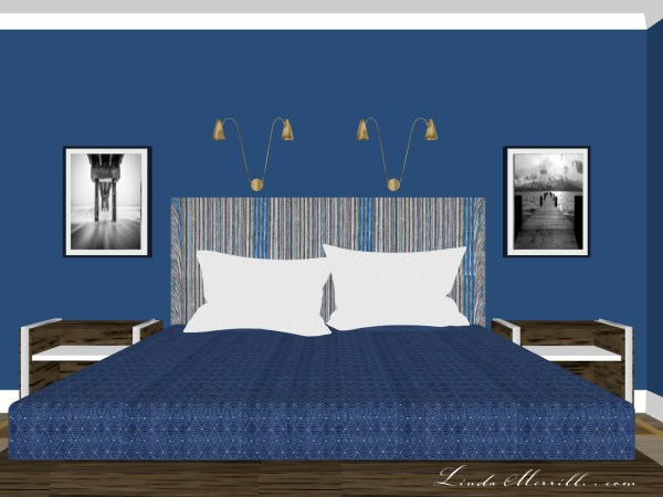 Linda Merrill Coastal Collection Newburyport blue rug bedroom 3