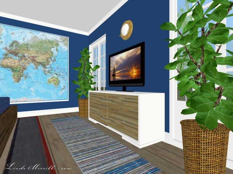 Linda Merrill The Coastal Collection Newburyport rug blue bedroom 1