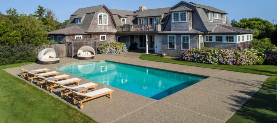 Exterior pool 3 Dunes Road Edgartown, MA Sandpiper Realty Edgartown property