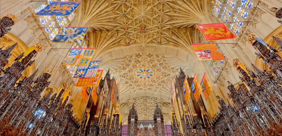 Harry and Meghan Royal Wedding St. George's quire ceiling