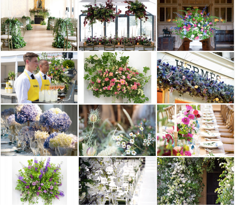 Philippa Craddock flowers royal wedding reception