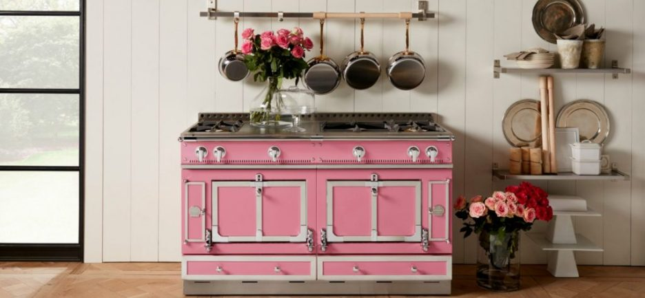 Suzanne Kasler for LaCornue pink stove