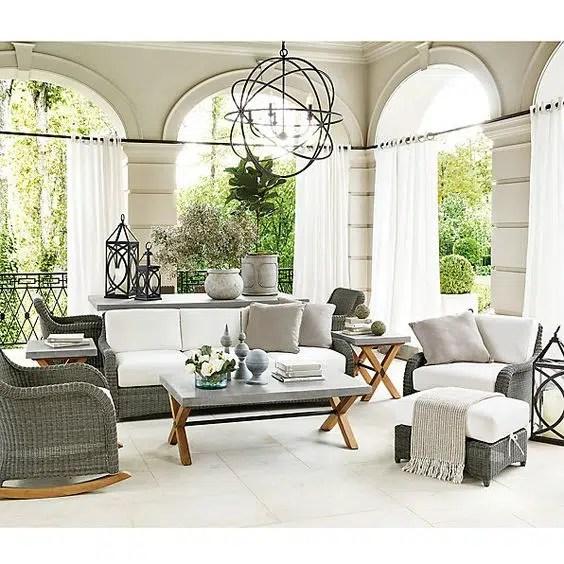 Ballard designs Suzanne Kasler Banded Indoor Outdoor high drapery panels