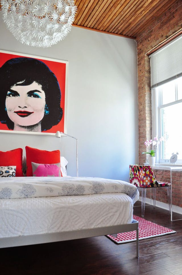 Hallie's Loop Loft Apartment Therapy Andy Warhol Jackie Kennedy Famous Faces