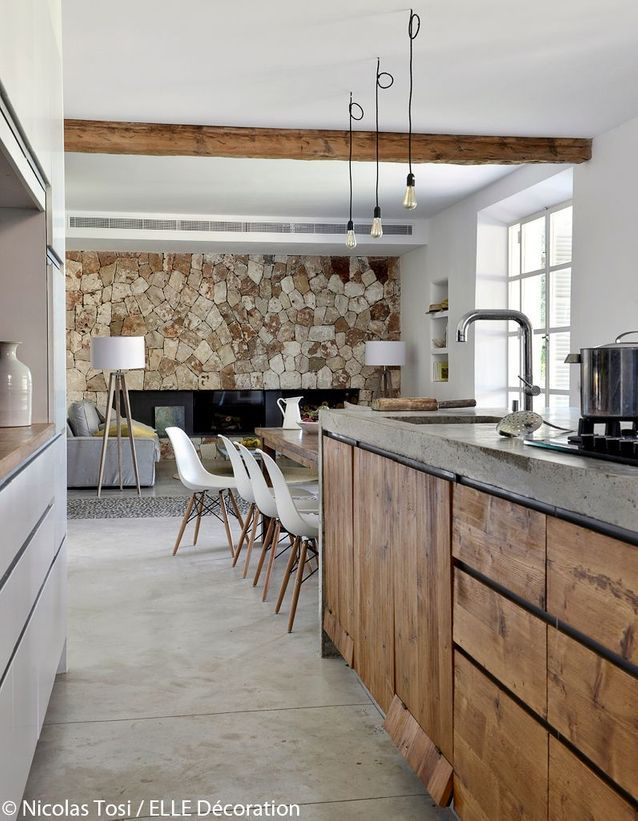 Photo Nicolas Tosi Elle Decoration France rustic kitchen