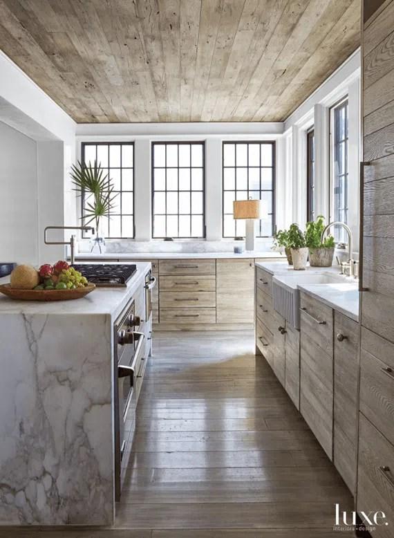Jeffrey Dungan design Luxe Interiors Rustic Kitchen