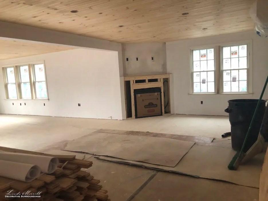 Linda Merrill interior design renderings sunroom family room project building in process 1