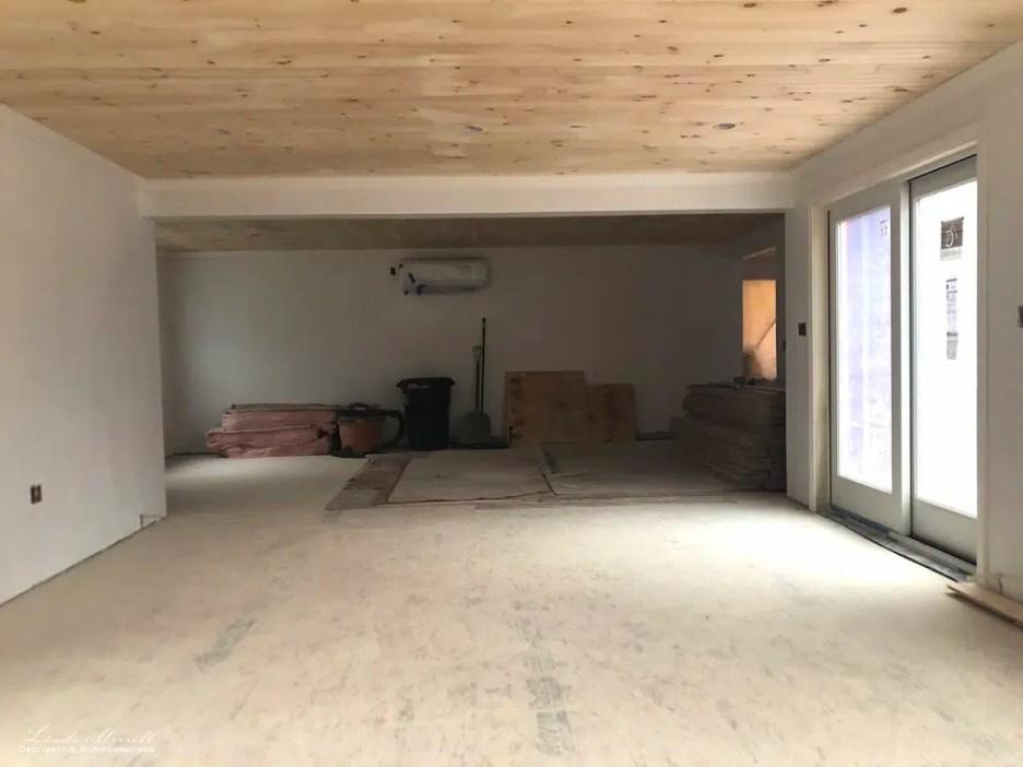 Linda Merrill interior design renderings sunroom family room project building in process 4