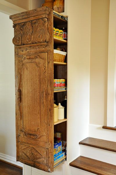 Luxe Living Interiors antique door built-ins