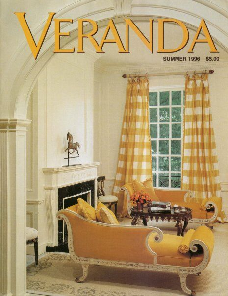 Mary Douglas Drysdale Yellow buffalo check Veranda cover