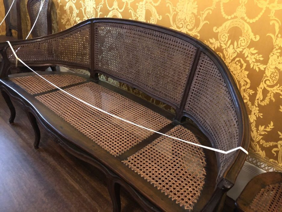 Linda Merrill Staycation Isabella Stewart Gardner museum 18th C French cane settee
