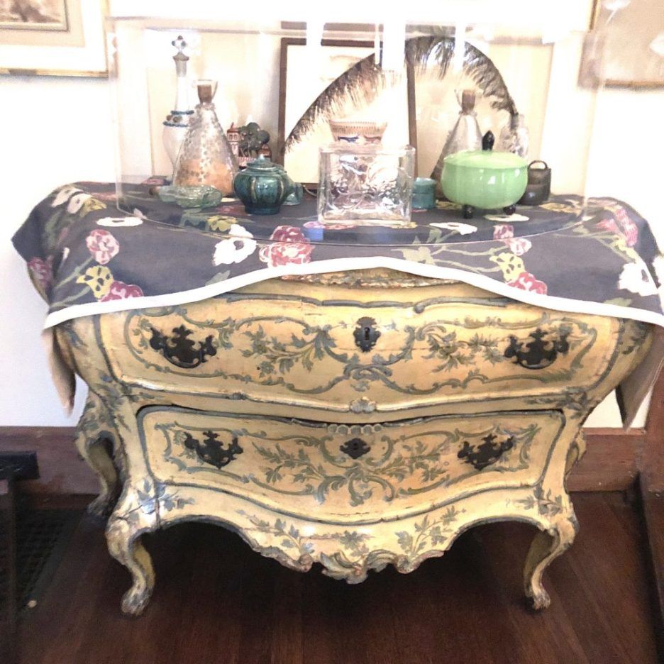 Linda Merrill Staycation Isabella Stewart Gardner museum 18th C Italian painted commode