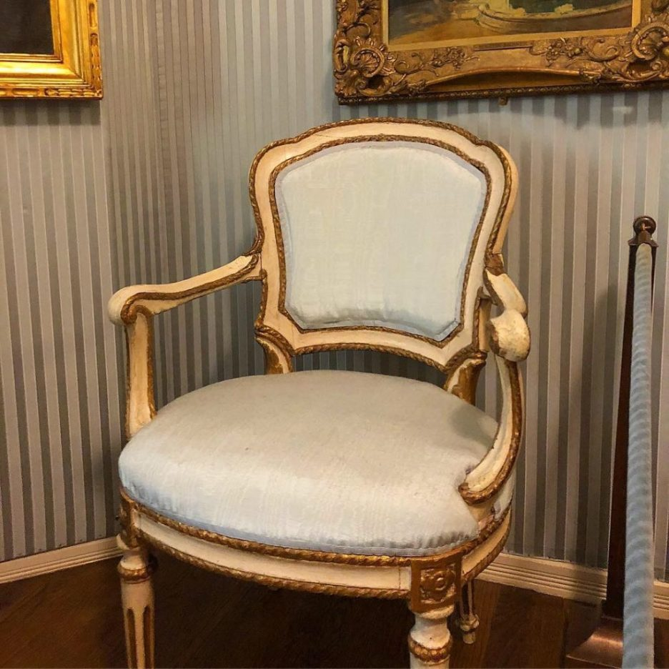Linda Merrill Staycation Isabella Stewart Gardner museum French antique bergere chair