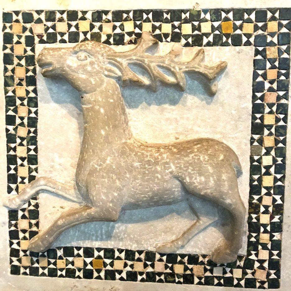 Linda Merrill staycation Isabella Stewart Gardner Museum deer mosaic tile