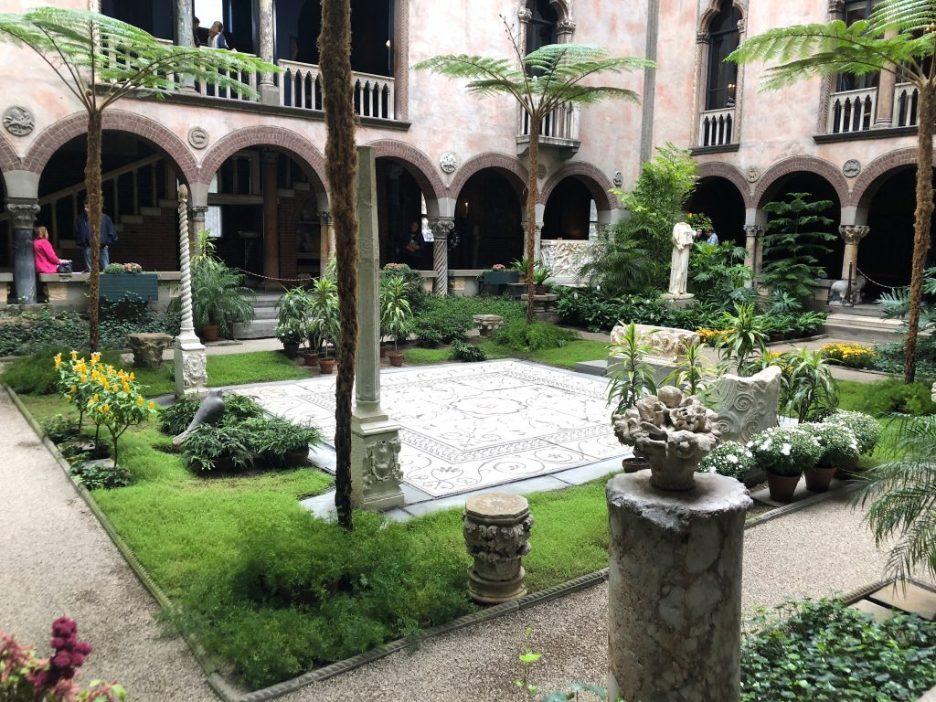 Linda Merrill staycation Isabella Stewart Gardner courtyard