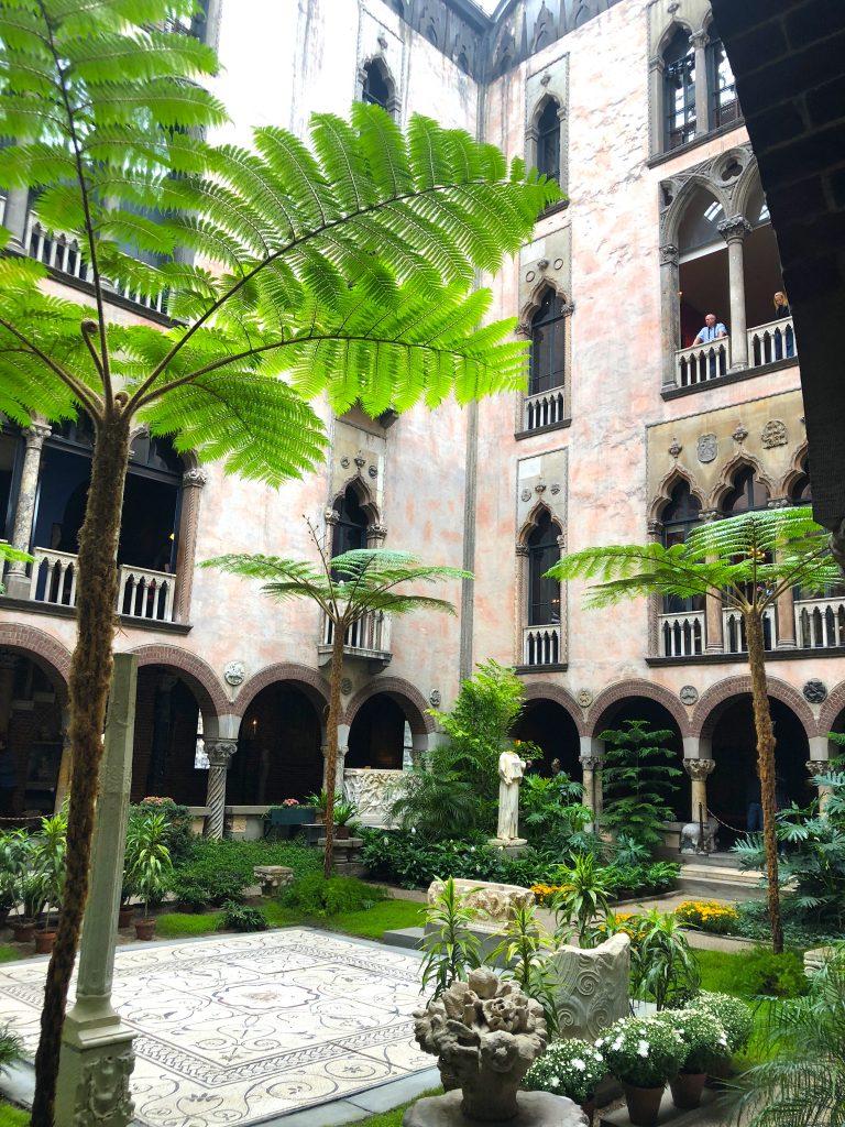 Linda Merrill staycation Isabella Stewart Gardner courtyard 2