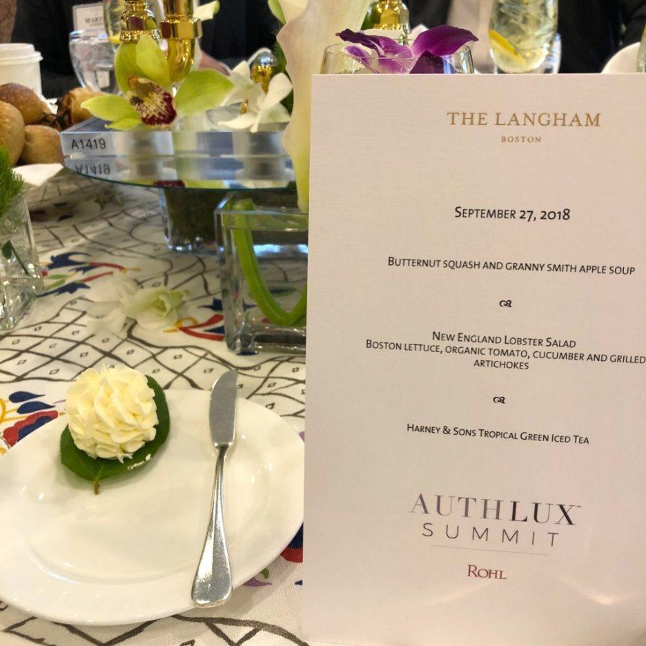 Linda Merrill staycation AuthLux Summit menu