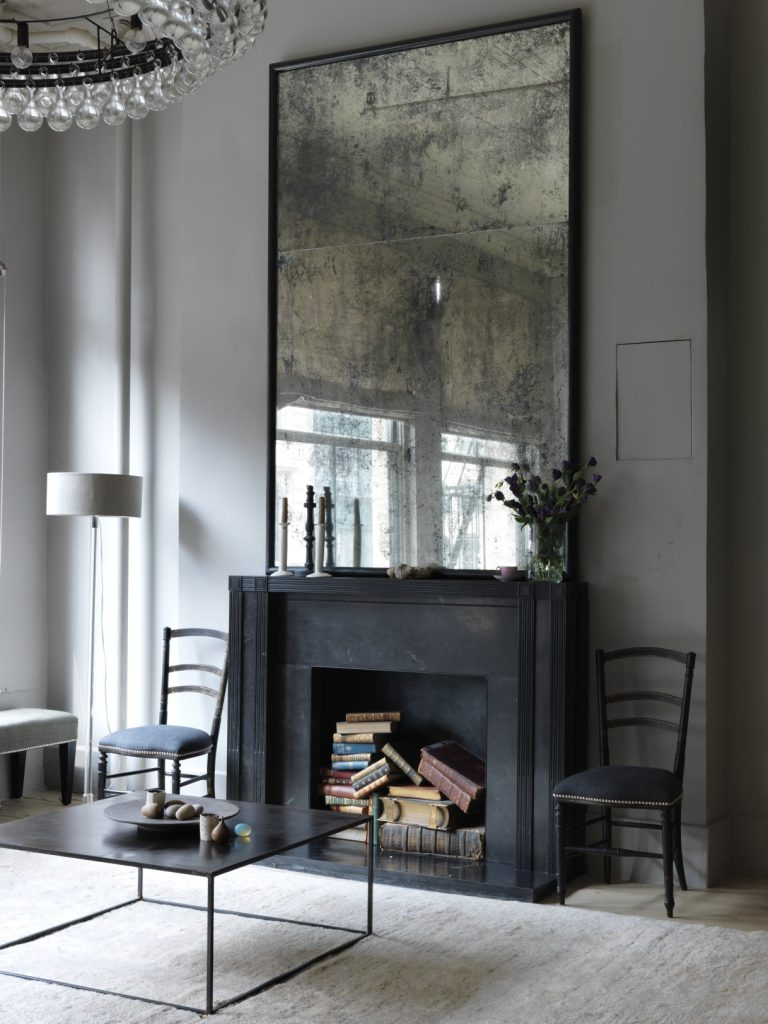Erin Swift Design mirror over fireplace mirrors