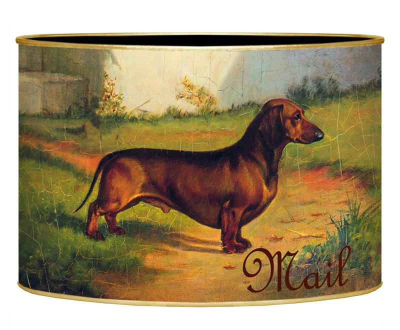 Marye Kelley decoupage dachshund letter box