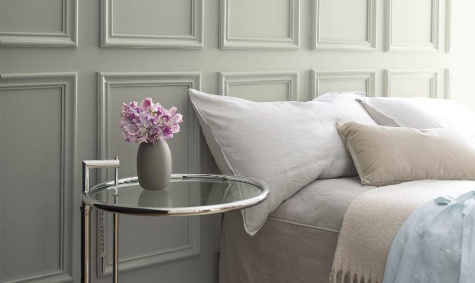 Metropolitan Gray bedroom Ben Moore 2019 Color of the Year COTY