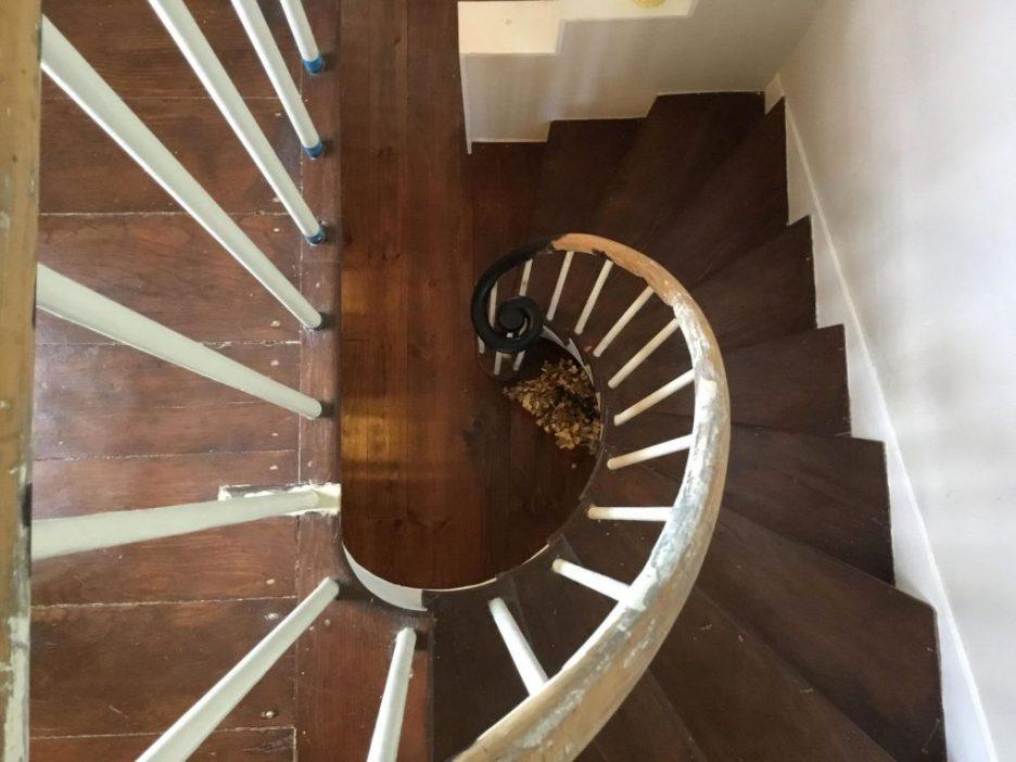 Antique Cape Cod Sandwich MA staircase