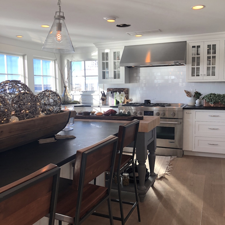 Plum Island kitchen Newburyport Christmas decorating house tour 2018