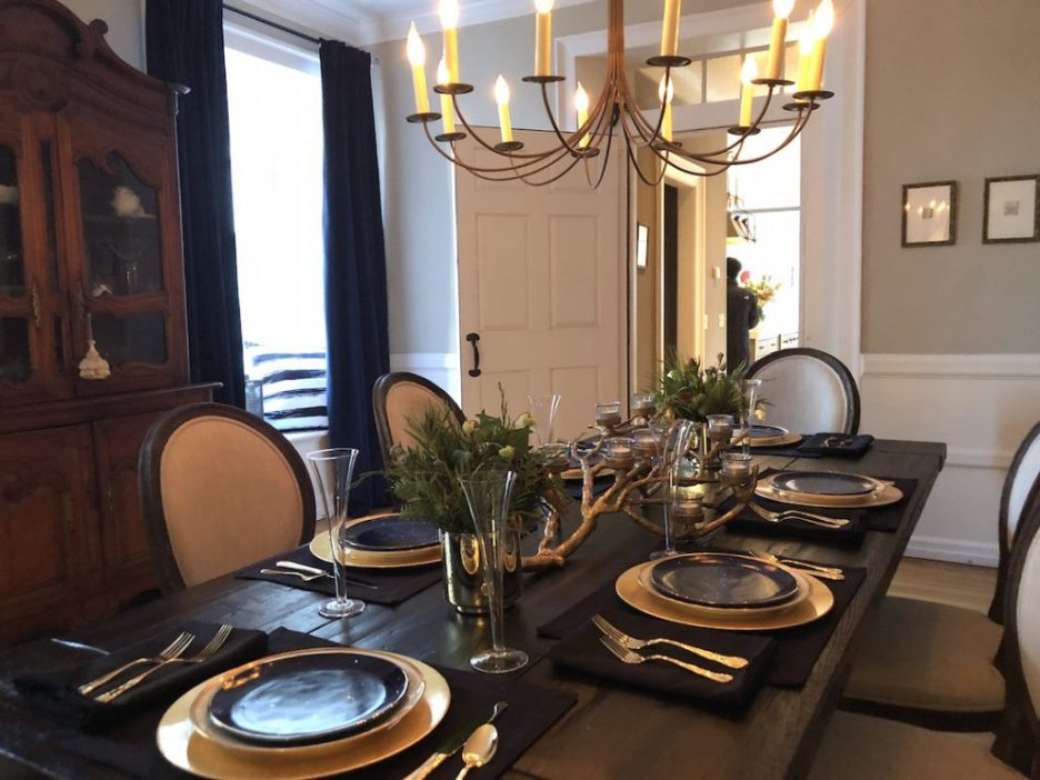 19 Federal Street Dining Room Christmas Holiday House Tour 2018