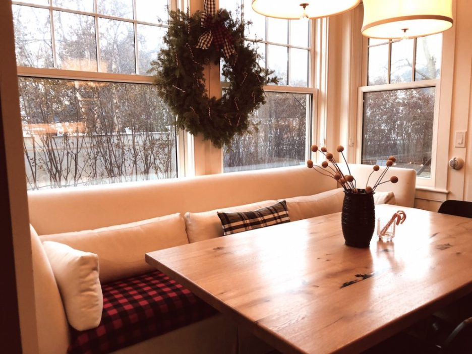 288 High Street Kitchen table Christmas Holiday House Tour 2018