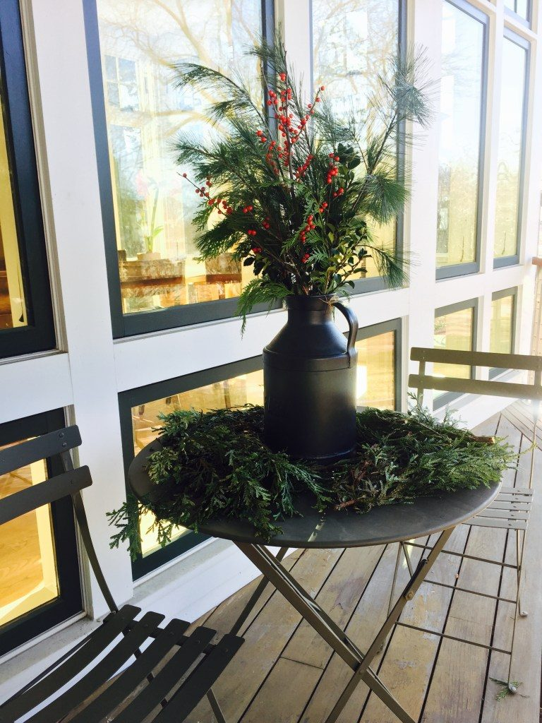 Newburyport Christmas greens decorating outdoors