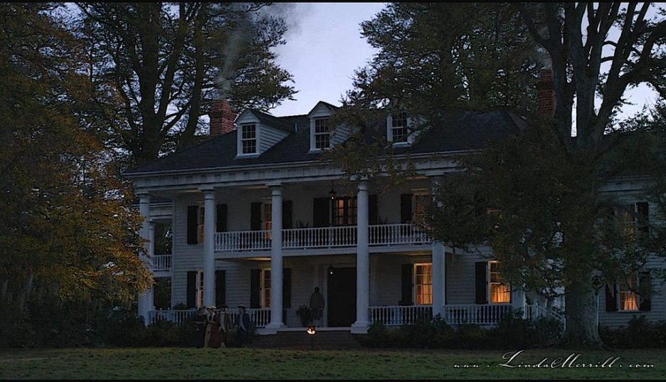 Outlander River Run House exterior nighttime 2