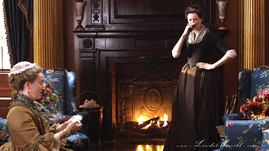 Parlor Outlander River Run Interior house sitting room fireplace