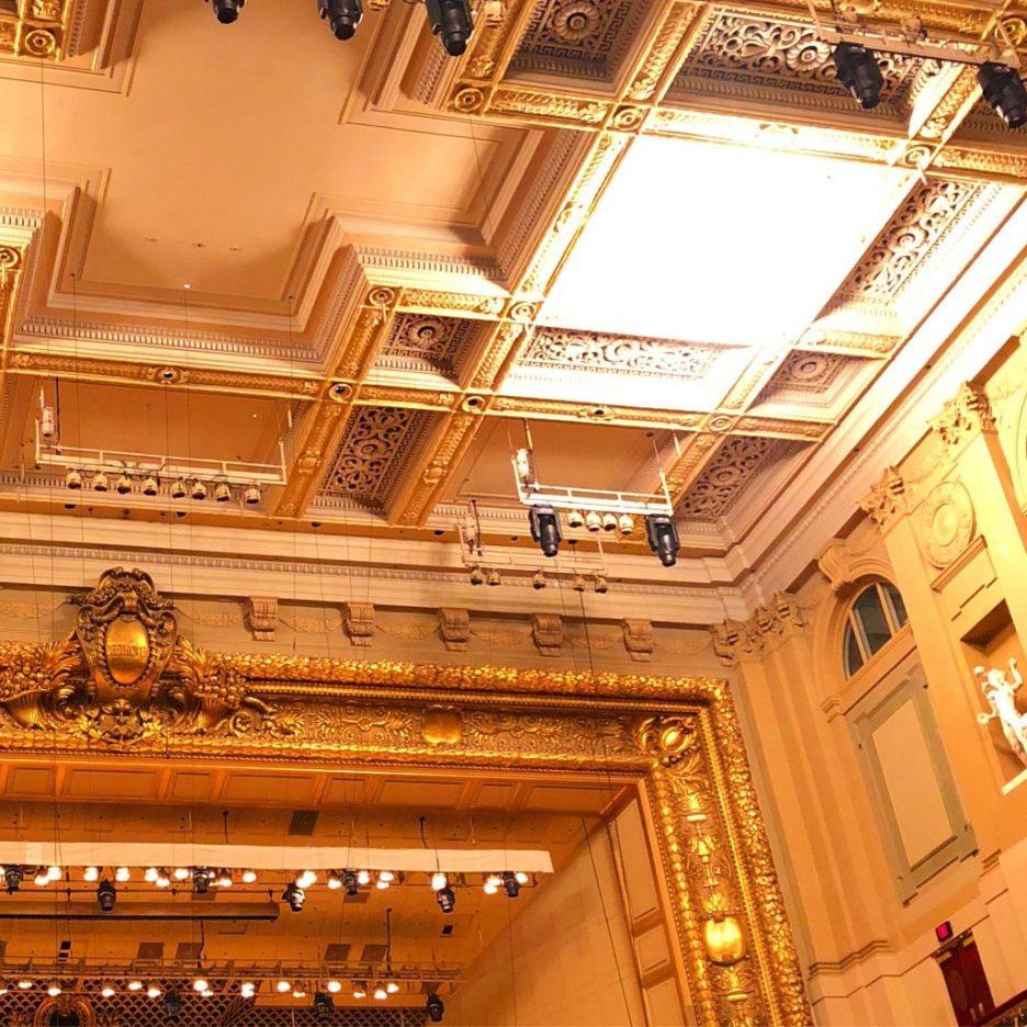 Boston Symphony Hall ceiling 1 Boston Design Week 2019