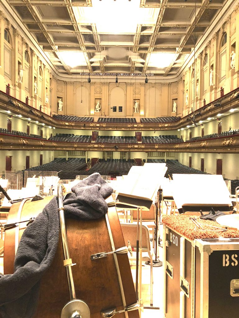 Boston Symphony Hall View from center stage Boston Design Week 2019
