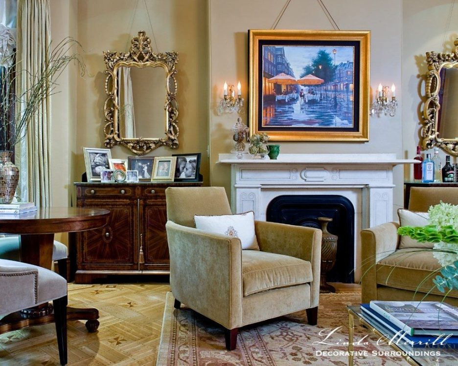 Linda Merrill design South End Boston 02116 | michael j lee photography Formal Living Room gold tan Formal family friendly 1