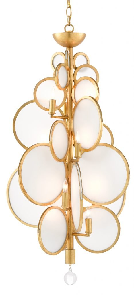 Currey and Company Dish Chandelier Denish McGaha Design 2019 Trends